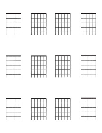 It's just an image of Printable Fretboard Template with guitar chord